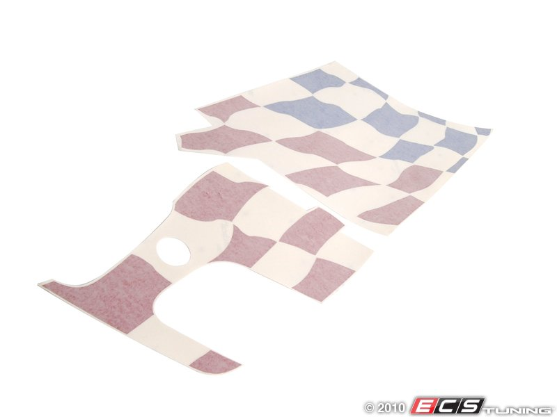 genuine bmw 51148014543 bmw checkered flag decal 51. Black Bedroom Furniture Sets. Home Design Ideas