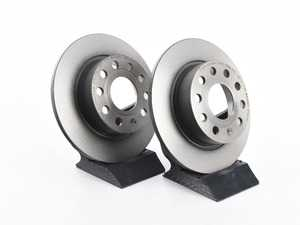 ES#3427285 - 5C0615601AKT1 - Rear Brake Rotors - Pair (253x10) - Restore the stopping power in your vehicle - Brembo - Audi Volkswagen