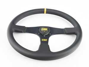ES#3192168 - OD/2030 - Velocita 380 Racing Steering Wheel - Black/Yellow Leather - OMP - BMW