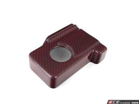 ES#3575732 - 020806ECS01-02 - Brake Fluid Reservoir Cover - Red Carbon Kevlar - Cover your master cylinder reservoir with premium Red Carbon Kevlar material - ECS - Audi Volkswagen