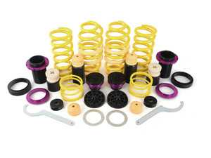"""ES#3427372 - 253100BJ - KW H.A.S. - Height Adjustable Spring Kit - Retains the use of your factory shocks while providing the ability to adjust ride height from 0.6"""" to 1.6"""" Front 1.0"""" to 1.8"""" Rear - KW Suspension - Audi"""