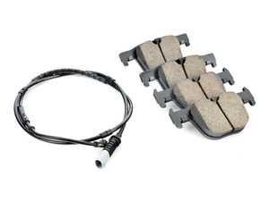 ES#3639386 - 34206799813 - Rear Brake Pad Set - Improve your braking while performing regular maintenance - Akebono - BMW