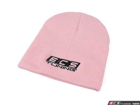 ES#3411269 - 6060080 - ECS Knit Cap - Pink - Featuring black embroidered ECS Tuning logo on front center - ECS - Audi BMW Volkswagen Mercedes Benz MINI Porsche