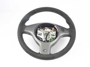 ES#3692046 - 32342282992sd - M3 Competition Steering Wheel - Without Multifunction Controls - *Scratch And Dent* - Alcantara with M color stitching - Genuine BMW - BMW