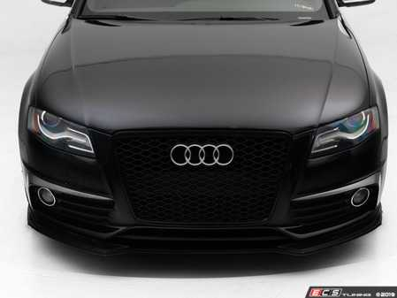 ES#3638709 - 027538ECS01 - Audi B8 A4/S4 Carbon Fiber Grille Accent Set - Pre Facelift  - Hand-laid carbon fiber to upgrade your exterior styling - ECS - Audi