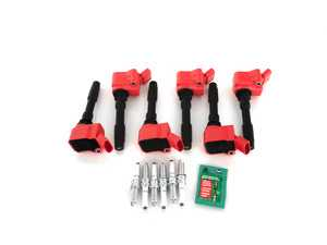 ES#3691949 - 06h905110lkt5KT - Ignition Service Kit - Includes six red top coil packs, OEM spark plugs, and dielectric spark plug boot protector to service your ignition! - Assembled By ECS - Audi
