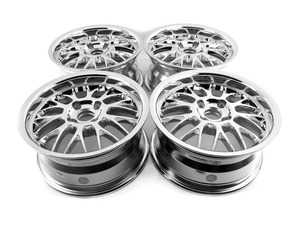 "ES#3677757 - 4x100beymesh2KT - 15"" Beyern Mesh Square Wheel Set - Chrome - Classic German tuner styling from an original aftermarket wheel manufacturer. 15x7"" ET27. - Beyern Wheels - BMW"