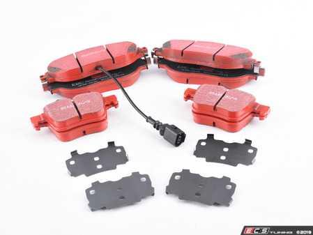 ES#3672046 - dp32127cKT - Front & Rear RedStuff Performance Brake Pad Kit - A high performance street pad, featuring Kevlar technology. - EBC - Audi