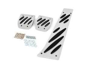ES#3674743 - PEDXXMLOY - BMW Aluminum Pedal Set - OEM Style Rubber Grips - Standard Transmission - Bavarian Autosport -