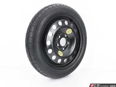 """ES#3691497 - 3611675000713580 - 17"""" Emergency Spare Wheel/Tire Set - Includes Genuine BMW 17x3.5"""" ET30 steel wheel with mounted and balanced Kumho 135/80/17 tire. - Assembled By ECS - BMW"""