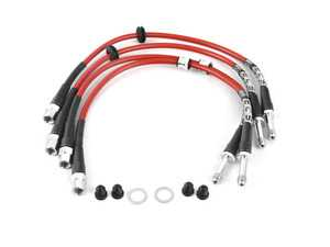 ES#3698273 - 027569ecs0KT1 -  Front & Rear Stainless Steel Brake Lines - Kit - High quality reinforced lines for great looks and a more consistent pedal feel - ECS - BMW