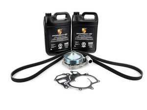ES#3022390 - 99610601156KT - Water Pump & Belt Kit - Includes water pump, gasket, coolant, and a new belt! - Assembled By ECS - Porsche