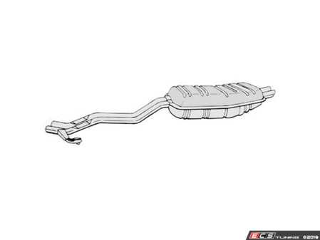ES#3674062 - 18121719428 - OE Replacement Rear Muffler  - Don't let a loud exhaust kill your driving experience. - Ansa - BMW