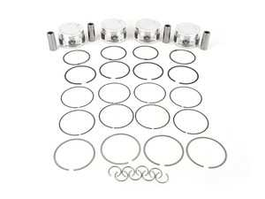 ES#3675520 - 345812 - JE Performance Forged Piston Set - Includes rings, wire locks, and 22mm wrist pins - 82.5mm bore (stock), 9.6:1 CR, 92.8mm stroke (stock) - JE Piston - Audi Volkswagen