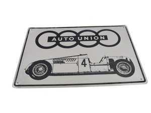 ES#3640914 - ACML840 - Auto Union Metal Sign - A historic amalgamation that transformed the automotive world. - Genuine Volkswagen Audi - Audi