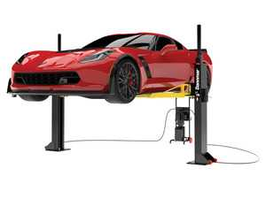 ES#3698285 - M6lift - 6000lb Portable Midrise Lift 2 Post - M6 is latest 2 post lift for your garage. 7 Automotive Safety Locks for safety.