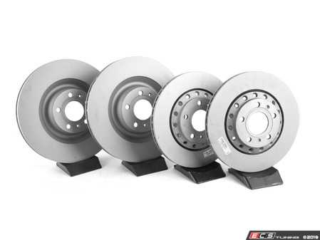 ES#2785295 - 4e0698301pkt - Front & Rear Premuim Brake Service Kit - Featuring Zimmermann rotors and Hawk brake pads - Assembled By ECS - Audi