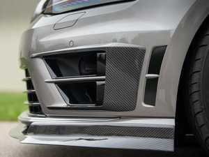 ES#3521818 - 021556ECS01 - MK7 Golf R Carbon Fiber Front Bumper Grille Flare Set - Hand-laid carbon fiber to upgrade your exterior styling - ECS - Volkswagen
