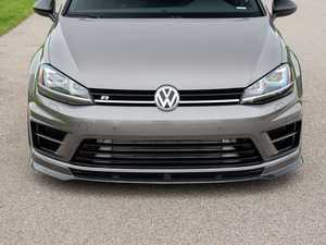 ES#3706688 - 021153ECS01KT - ECS Tuning MK7 Golf R Carbon Fiber Front Lip Spoiler - In-house engineered hand-laid carbon fiber to upgrade your exterior styling - ECS - Volkswagen
