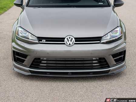 ES#3706688 - 021153ECS01KT -  MK7 Golf R Carbon Fiber Front Lip Spoiler - In-house engineered hand-laid carbon fiber to upgrade your exterior styling - ECS - Volkswagen