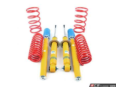 ES#3690180 - E28BASKT - Bilstein/Bavarian Autosport Cup Kit - Bav Auto's performance springs lower the ride height up to 30mm (a little less than H&R) with a spring rate that is just a little stiffer than OEM sport springs. Bilstein Performance Plus dampers ensure a lifetime of excellent ride quality. - Assembled By ECS - BMW