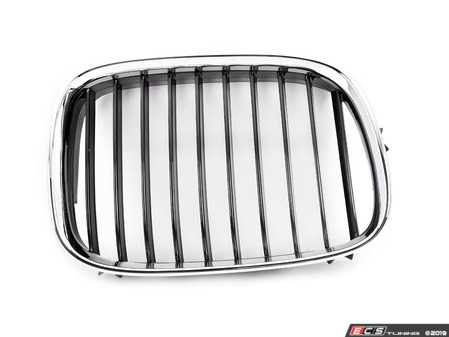 ES#3673245 - 51138159316A - Grill - Right  - Chrome with black slats. - Trucktec - BMW
