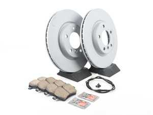 ES#2804126 - 341198048294KT20 - Front Brake Service Kit - Featuring Zimmerman rotors and Akebono pads - Assembled By ECS - MINI