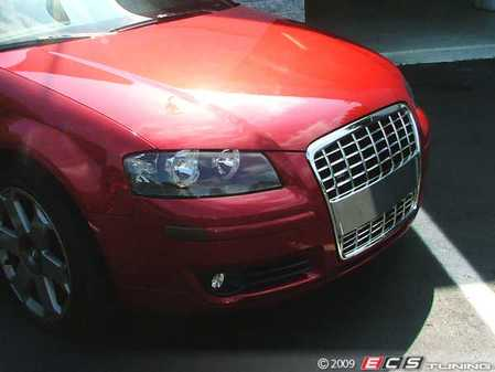 ES#240984 - FKSG33203-1 - Audi A3 Badgeless Sport Grille Kit - Chrome - Direct fit badgeless grille for your Audi A3, incredible styling in one simple step - FK -