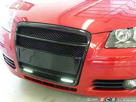 ES#251070 - fksg33401-1kt - Audi A3 Sport Badgeless Mesh Grille With LEDS - Blackout - Inspired by the Audi S6, Grille specifically manufactured with these FK LED strips in mind - FK -