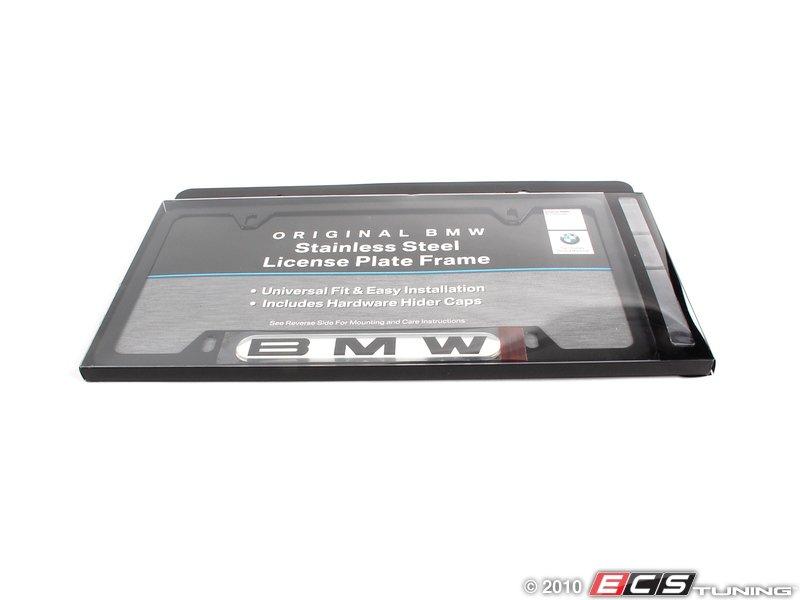 es196053 82120010398 bmw license plate frame black black