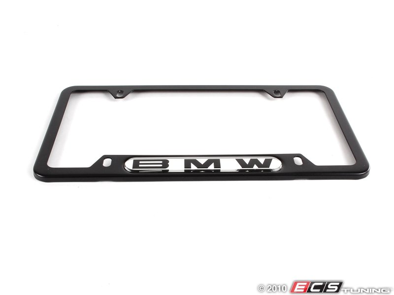 bmw license plate frame black black stainless finish with the bmw. Cars Review. Best American Auto & Cars Review