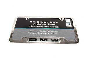 "ES#196050 - 82120010395 - ""BMW"" License Plate Frame - Polished - Polished stainless finish with the BMW insignia - Genuine BMW - BMW"