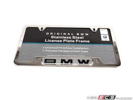 "ES#196050 - 82120010395 - ""BMW"" License Plate Frame - Polished - Polished stainless finish with the BMW insignia - Genuine BMW - BMW"