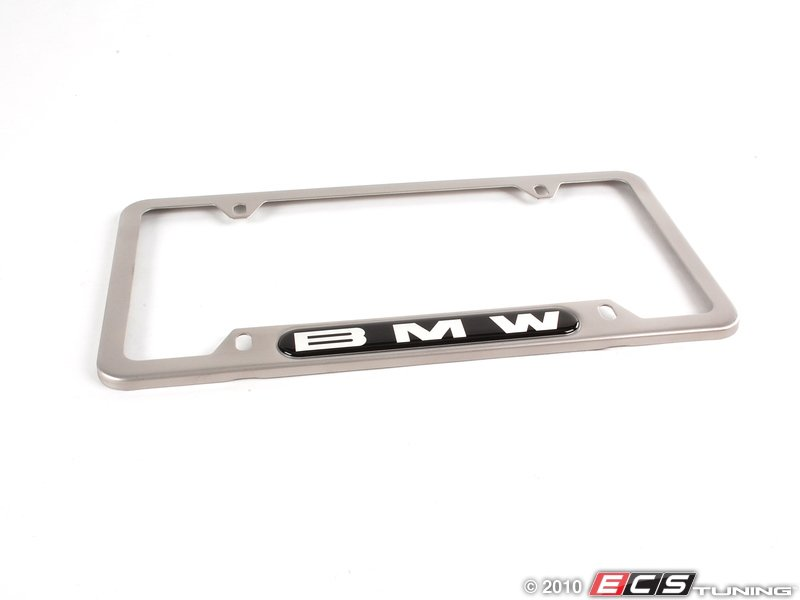 bmw license plate frame satin stainless satin finish with a bmw. Cars Review. Best American Auto & Cars Review