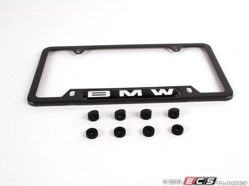 es195135 82110413117 bmw license plate frame carbon fiber