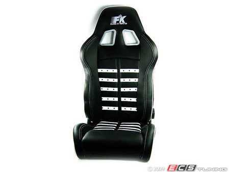 ES#251334 - FKXLSE021KT-l - Left Leather Sport Seat - Black/Silver - Incredible new design from FK Germany, Comes with specific VW mounting bracket - FK - Volkswagen