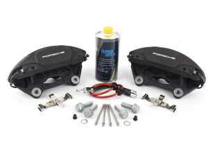 ES#3677993 - 95b615123fKT - Front Big Brake Kit - Stage 2 - No Pads/Rotors - Upgrade your brake system to the 4-piston Brembo Porsche Macan calipers - ECS - Audi