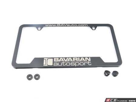 ES#3674572 - LPBAVARIANBK - Bavarian Autosport License Plate Frame - Black - The plate frame that displays your BAVauto enthusiasm. - Bavarian Autosport - BMW MINI