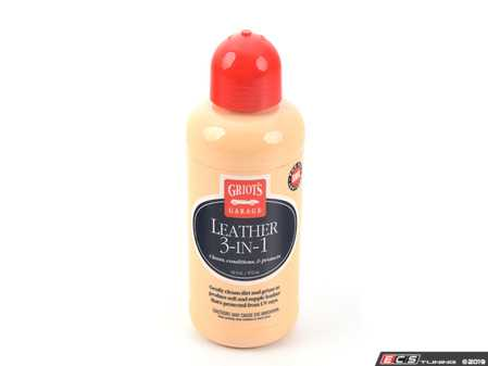 ES#3672375 - 11019 - Leather 3-in-1 - 16oz - Leather 3-in-1 is a superior maintenance product that cleans, conditions, and protects newer leather in one quick, easy step. - Griot's - Audi BMW Volkswagen Mercedes Benz MINI Porsche