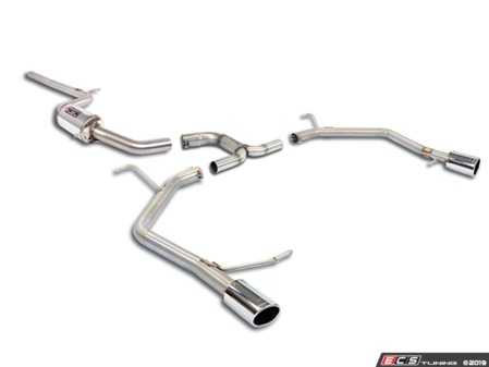 "ES#3969315 - 9173031KT - 3"" Cat-Back Exhaust System - Resonated - Without Mufflers - Stainless steel single resonator cat-back system without mufflers - Supersprint - Volkswagen"