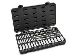 "ES#3969765 - KDT-80948 - 76 Pc. 1/4"" & 3/8"" Drive 12 Point Standard & Deep SAE/Metric Mechanics Tool Set - The perfect all-around combination to service your vehicles - Gear Wrench - Audi BMW Volkswagen Mercedes Benz MINI Porsche"
