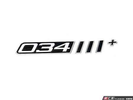ES#3692029 - 034-A06-0002 - 034Motorsport Dynamic+ Badge - Proudly display the level of 034Motorsport Performance Upgrades fitted to your vehicle with these beautiful 034Motorsport Dynamic+ badges. - 034Motorsport - Audi Volkswagen