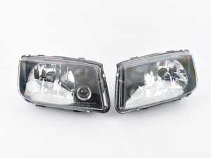 ES#3706624 - HVWJ4HL-Bsda - European Headlight Set - Black - *Scratch And Dent* - *Please see description prior to ordering* With fog lights, with smoked turn signals - Helix - Volkswagen