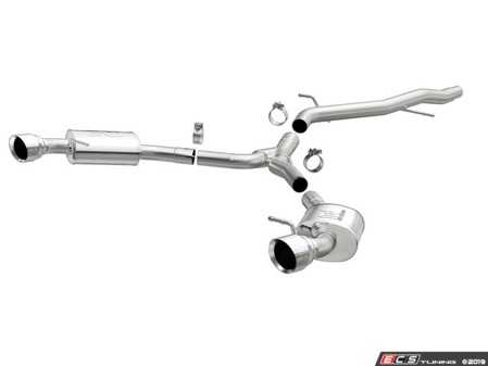 ES#3970127 - 19390 - Sport Series Cat-Back Performance Exhaust System  - The Sport Series Stainless Exhaust System delivers maximum performance, reduced mass and an aggressive exhaust sound. - Magnaflow - Audi