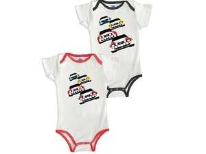 ES#3694690 - ACM3703BLK12M - Rally Car Onesie - Black - 12month  - Your little one now has a license to ride. - Genuine Volkswagen Audi - Audi
