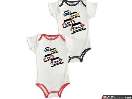 ES#3694695 - ACM3703RED6M - Rally Car Onesie - Red - 6Month - Your little one now has a license to ride. - Genuine Volkswagen Audi - Audi