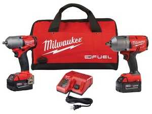 "ES#3970296 - MWK-2993-22 - M18 FUEL 2 Tool Combo Kit - Kit includes 3/8"" impact wrench delivering 450 ft./lbs, 1/2"" impact wrench delivering 1000 ft./lbs, 2 batteries, charging kit, and carrying case - Milwaukee - Audi BMW Volkswagen Mercedes Benz MINI Porsche"