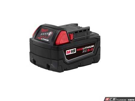 ES#3970310 - MWK-48-11-1850 - M18 REDLITHIUM XC5.0 Extended Capacity Battery Pack - Powers more than 60 Milwaukee M18 cordless power tools - Milwaukee - Audi BMW Volkswagen Mercedes Benz MINI Porsche