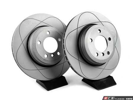 ES#3680479 - 34211166129kt3 - Rear PremiumOne Brake Rotor - Pair (345x24) - New brake rotor to restore your stopping power - Gas Slotted - ATE - BMW