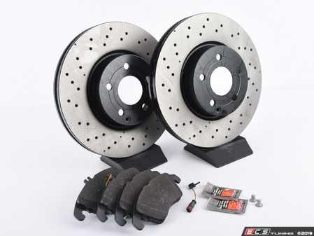 ES#3690843 - 0004213012KT7 - Front Brake Service Kit (322mm x 32mm Rotors) - Featuring Original Performance Brake Rotors and Meyle Semi-Metallic Brake Pads - Assembled By ECS - Mercedes Benz